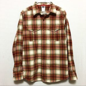 The North Face Plaid Button Down Long Sleeve Shirt